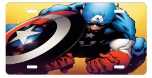 Captain America License Plates Superhero Collection
