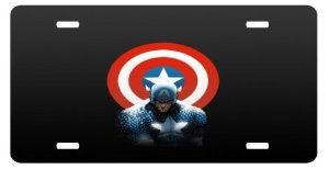 captain america license plate