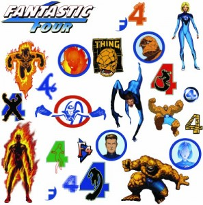 fantastic four wall decal