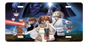 lego star wars license plate