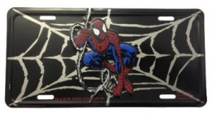 spiderman license plate car