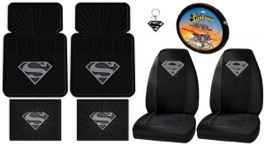 superman car accessories gray