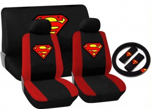 superman car accessories red