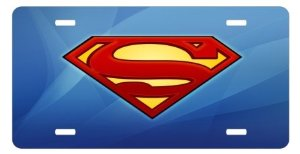 superman car plate