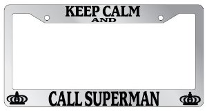 superman license plate car