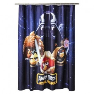angry birds star wars shower curtain