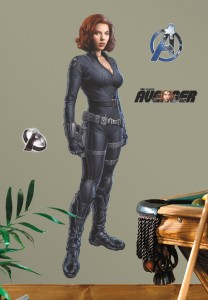 avengers black widow wall decal
