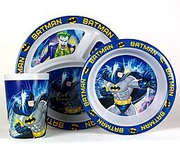 batman dinnerware