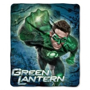 green lantern fleece blanket