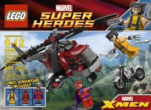 lego wolverine chopper showdown