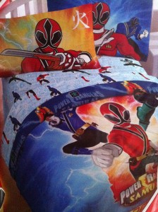 power ranger bedding
