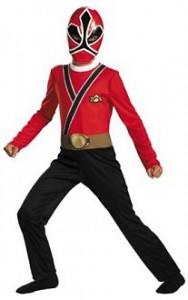 power rangers red samurai costume kids