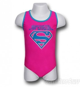 supergirl girls swimsuit