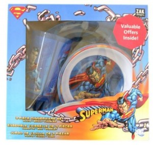 superman dinnerware