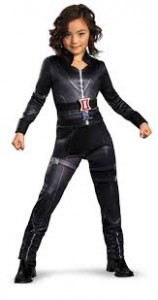 black widow costume kids
