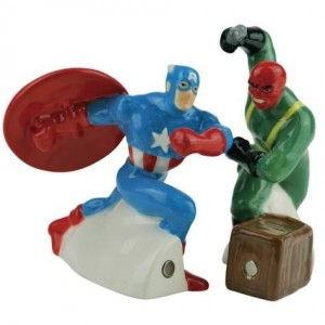captain america salt pepper shaker
