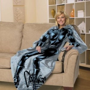 catwoman throw blanket with sleeves