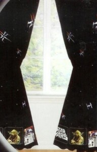 star wars window drapes superhero collection. Black Bedroom Furniture Sets. Home Design Ideas