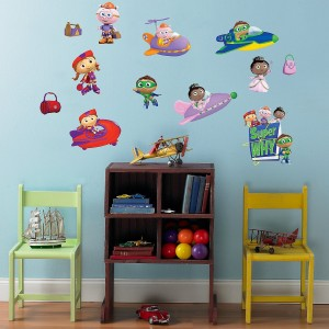 Super Why Wall Decal Superhero Collection