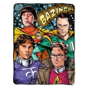 big bang theory blanket raschel