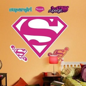 supergirl wall decal