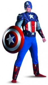 captain america costume muscle