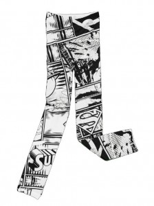 superman leggings black white
