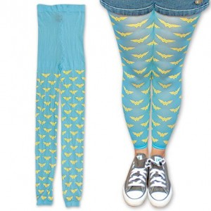 wonder woman legging blue