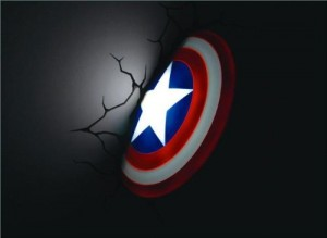 captain america 3d deco light