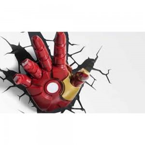 iron man 3d deco light hand