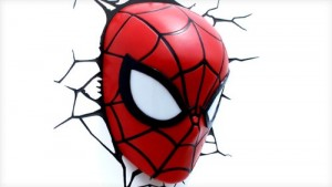 spiderman 3d deco light