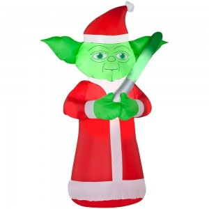 star wars christmas inflatable yoda