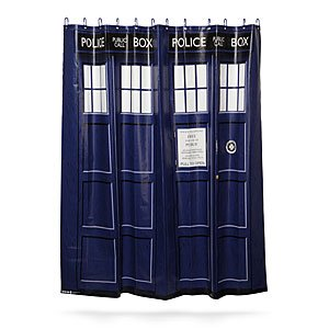 dr who shower curtain