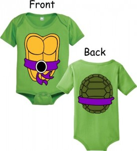 tmnt baby snapsuit