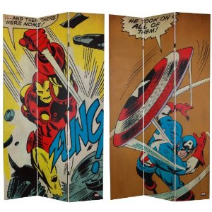 captain america room divider