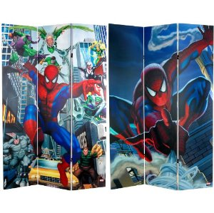 spiderman room divider