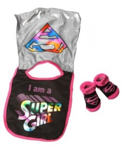 supergirl bib and booties