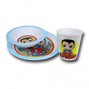 superman dinnerware set