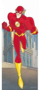 flash cardboard cutout running