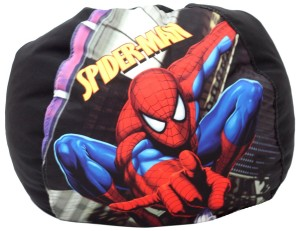 spiderman bean bag black