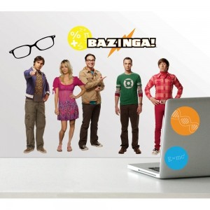 big bang theory wall decal