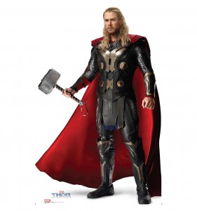 thor dark world cardboard cutout