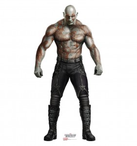 guardians of the galaxy cardboard cutout drax