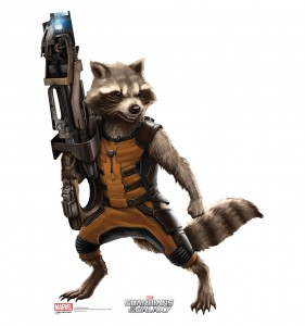 guardians of the galaxy cardboard cutout rocket