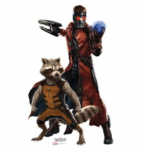 guardians of the galaxy cardboard cutout star lord & rocket