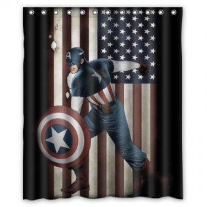 captain america shower curtain 2