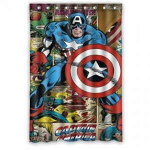 captain america shower curtain 3