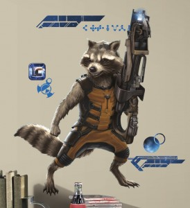 guardians galaxy wall decal raccoon