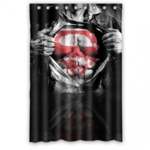 superman shower curtain 2