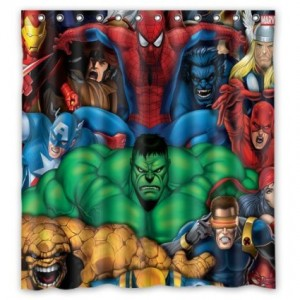 avengers shower curtain